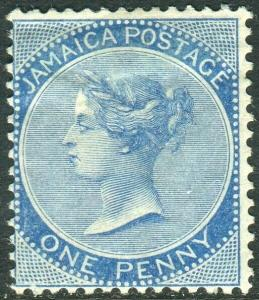 JAMAICA-1873 1d Blue.  A mounted mint example Sg 8