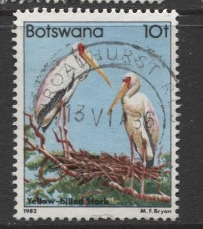 Botswana - Scott 311 - Birds Issue -1982 - VFU - Single 10t Stamp