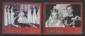TOKELAU ISLANDS SG348/9 2003 CORONATION MNH