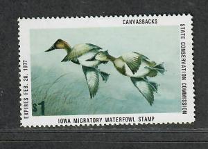 Iowa Sc#5 M/NH/VF, State Duck Stamp, Cv. $25