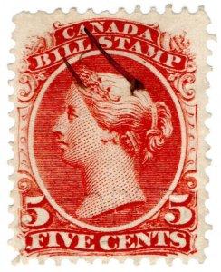 (I.B) Canada Revenue : Bill Stamp 5c