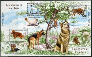 Niger 2015 dogs domestic animals klb+s/s MNH