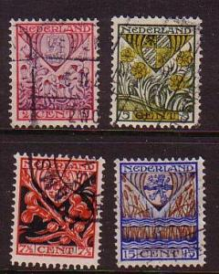 Netherlands  Sc B21-4 1927 Child Welfare stamp set used