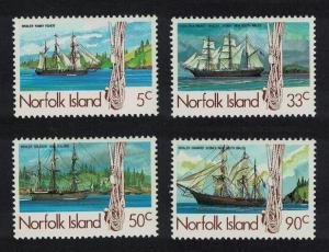 Norfolk 19th-Century Whaling Ships 1st series 4v SG#356-359 SC#356//363