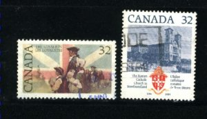 Can #1028-29   -4  used VF 1984 PD