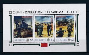 [81034] St. Kitts 2011 Second World war Operation Barbarossa Sheet MNH