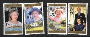 TRISTAN DA CUNHA SG594/7 1996 70th BIRTHDAY OF QUEEN ELIZABETH II FINE USED