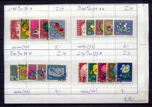Switzerland 1957/59 Insects Flowers MNH Used (20 Items) NT 274s
