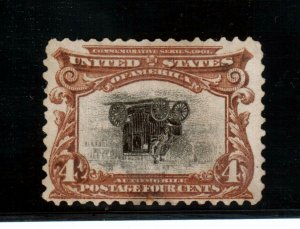 USA #296a Mint Fine - Very Fine Center Inverted **With Certificate**