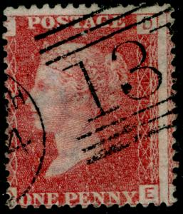 SG43, 1d rose-red PLATE 103, FINE USED. DE