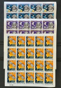 Full Set in Sheets Stamps Space / Astronauts - spaceman Mali 1965 Imperf.