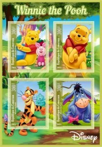 Stamps. Cartoons Winnie The Pooh Set 2 sheet perforated