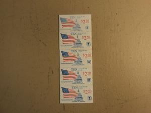 USPS Scott 2116a 22c Book Of 10 Flag Over Capitol Dome 5 ...