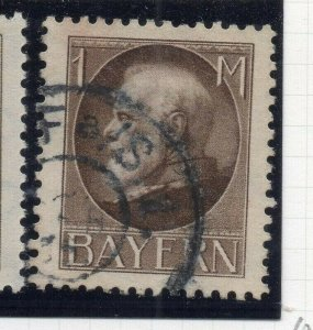 Bayern 1914-20 Early Issue Fine Used 1M. NW-10859