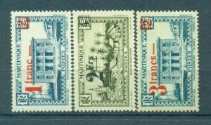 Martinique sc# 190-195 mh cat value $6.50