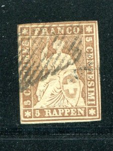 Switzerland  #20 Used  F-VF   - Lakeshore Philatelics
