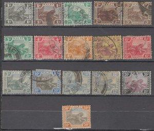 COLLECTION LOT OF #1006 MALAYA 16 STAMPS 1906+ CV + $37