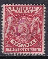 British East Africa 1896 Scott 73 Queen Vict & Lions used