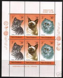 New Zealand MH S/S B117a Cats Health 1983