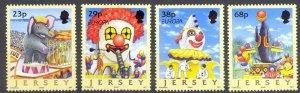 Jersey MNH 1020-3 Circus & Clowns Europa 2002