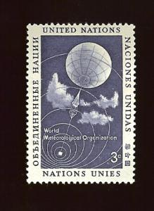 UN N.Y. 49 3¢ Meteorological Organization MNH