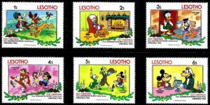 Lesotho 1983 OLD Christmas Disney Art Washington Irving Sketch Book Stamps (5)