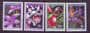 J23861 JLstamps 1986 australia set mnh #997-1000 flowers