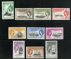 FALKLAND ISLAND DEPENDENCIES L19-L28  MNH SHORT SET  SCV $21.25 BIN $11.00
