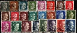 Germany #506-23, 524a, 525a, 526-7 F-VF Used CV $87.90 (X4808)