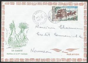 NEW CALEDONIA 1974 local cover NOUMEA / VALLEE DE COLONS violet cds.......59106