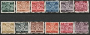 San Marino Sc J65-J76 postage due partial set MH