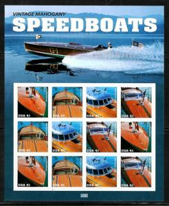 PCBstamps   US #4160/4163 Sheet $4.92(12x41c)Mahogany Speedboat, MNH, (7)