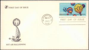 United States, District of Columbia, First Day Cover, Balloons