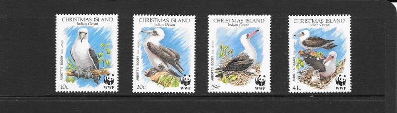 WWF- BIRDS - CHRISTMAS ISLANDS #270-273