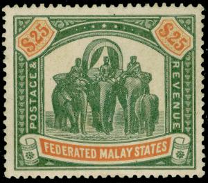 MALAYSIA - Federated Malay States SG51, $25 grn&orange, NH MINT. Cat £2250.