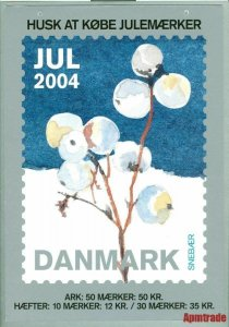 Denmark. Christmas Seal. 2004. 1 Post Office,Display,Advertising Sign. Berries