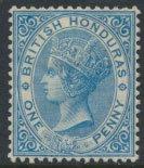 British Honduras SG 12 SC # 8 MH blue wmk Crown CC see scans and details