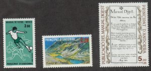 Andorra-French - 1986 - SC 346-48 - LH
