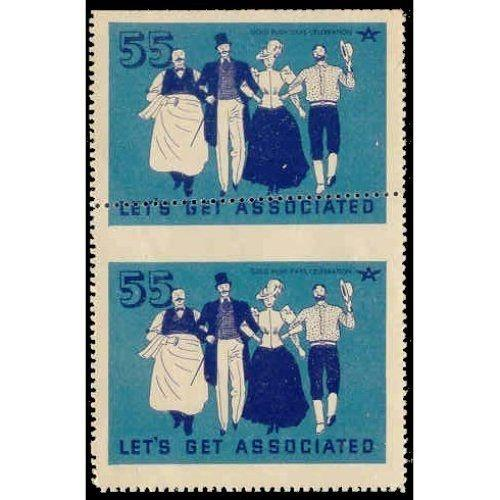 US - Gold Rush Days Poster Stamps - Perf Freak Pair