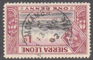 SIERRA LEONE 1942 GVI 1d - MOYAMBA cds......................................7119