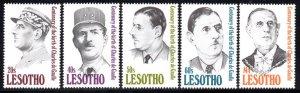 Lesotho - 1991 Charles de Gaulle Set MNH** SG 1036-1040
