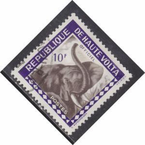 Burkina Faso O3 Elephant 1963