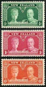 New Zealand SG573/5 1935 Silver Jubilee M/Mint