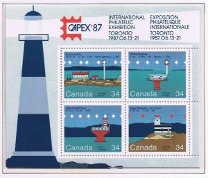 Canada Mint VF-NH #1066b Canadian Lighthouses sheet
