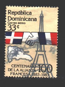 Dominican Republic. 1983. 1382. Diplomacy, France. USED.