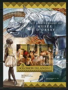 SOLOMON ISLANDS  2016 30th ANNIVERSARY OF THE ORSAY MUSEUM  S/SHEET  MINT NH