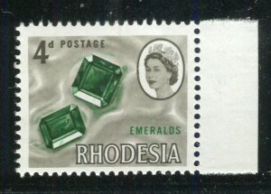 RHODESIA; 1964 early QEII Pictorial issue MINT MNH MARGIN 4d. value