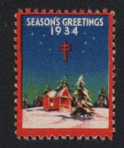 United States MINT 1934 CHRISTMAS SEAL TB MNH  - BARNEYS