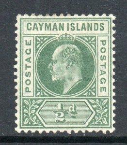 Cayman Islands 1905 EDVII ½d green wmk MCCA SG 8 mint