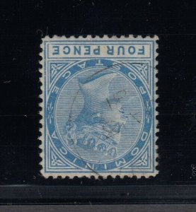 Dominica, SG 7 var, used Watermark Inverted variety